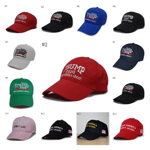 13Styles Donald Trump Baseball Hat Star Usa Flag Camouflage Cap Keep America Great Hats 3D Embroidery Letter Adjustable BWD1693