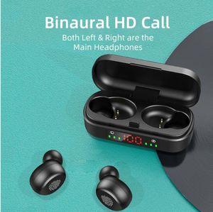Auricular inalámbrico Bluetooth 5.0 V8 de alta fidelidad auriculares estéreo 2000mAh Deportes Auriculares Auriculares Mini smartphones