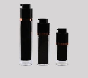 2020 новая продажа 30ml Слейте безвоздушного Лосьон Крем Pump Bottle Черный Уход за кожей Уход Персональный Travel Containers