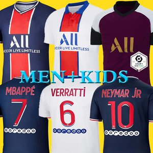 Maillots de football kit 19 20 PSG soccer jersey 2019 2020 Paris MBAPPE ICARDI MARQUINHOS jersey camisetas de futbol shirt men kids sets