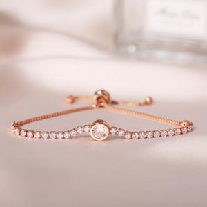 S1784 Hot Fashion Jewelry Women's Simple Bracelet Adjustable Crystal Rhinstone Chain Bracelet
