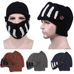 Knit Crochet Beanies Hat The Roman Knight Winter Warm Caps For Gladiators Man Woman Teenagers 5 Colors Hip Hop Hats