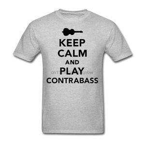 3D calma Imprimir Manter and Play Contrabaixo Tees camisa para homens Interessante manga curta verão camisetas