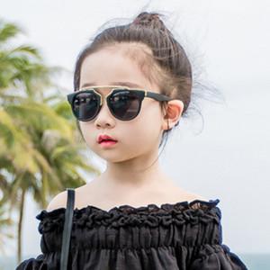 sol gafas de sol de la manera del bebé de los ojos del padre-niño del gato de la manera gafas de sol coloridas de los niños coreanos del estilo