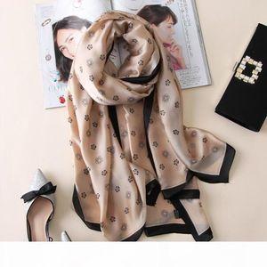 women silk scarf bandana fashion soft lady designer female shawls wraps long size foulard 180 * 90cm hijabs