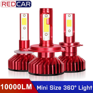 2pcs 10000LM H8 H9 H11 H3 Fog Lights H7 H4 H1 Headlight COB Chips 3 9005 4 9006 880 881 H27 LED 6000K Auto Lamp 50W 12V