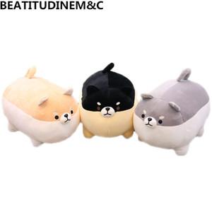 1Pcs 40cm 50cm New Angry Fat Shiba Inu Plush Toys Animal Stuffed Toys Children's Toys Soft Sofa Pillow Cushion Home Decor Gifts MX200716