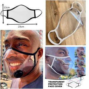 Transparente Máscara Lip Rosto Anti-fog transparente Faceshield Cotton Máscara Deaf Mute Máscaras Designer Visível Anti Poeira Boca face da tampa XD23898