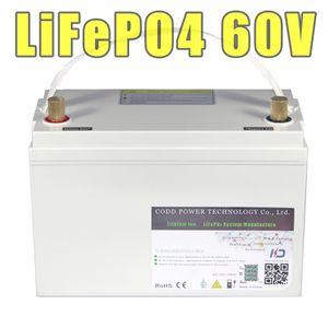 bici 60V LiFePO4 20AH 30AH 40H Scooter elettrico Batteria ricaricabile IP68 impermeabile