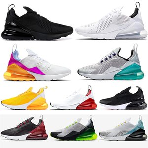 Nike Air Max 270 Triple Black Hombres Zapatos 2020 Platinum Tint N7 Bred Core White 27C 270s hombres mujeres zapatillas deportivas Chaussures Sneakers