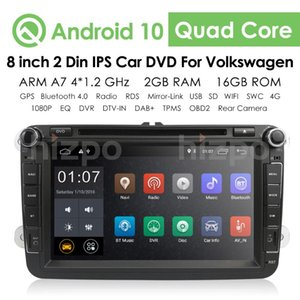 """8"""" 2 Din Android 10.0 IPS DSP Car DVD Radio Quad Core Stereo GPS Multimedia for VW B6 Car BT Navigation USB"""
