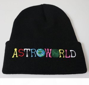 Astroworld Knitted Skull Caps 8 Colors Fashion Hats Hip Hop Letter Embroidered Beanie Unisex Winter Caps