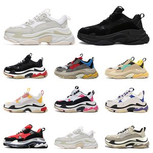 Designer Shoes Fashion Paris 17FW Triple S Sneaker Casual per Donna Uomo Nero rosa bianco Sneakers sportive Taglia 36-45 Aumenta la moda