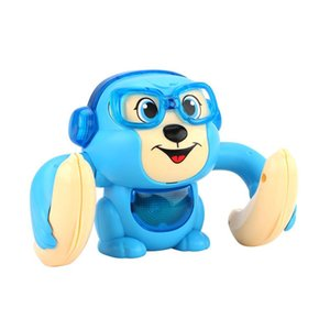 Novel and interesting electric roll little monkey somersault crawling sound and light boy girl baby baby puzzle child flip toy