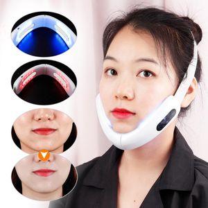 EMS V-Lift Massage Visage La Machine à Compress infrarouge photothérapie peau du visage Lifting Up Réduire Double menton périphérique