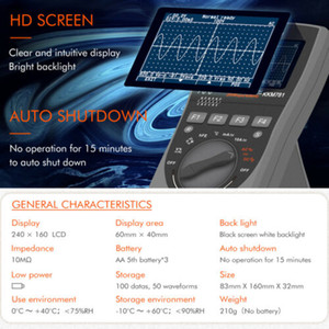 지능형 오실로스코프 휴대용 범위 미터 디지털 스토리지 대해서는 ScopeMeter Y8S6