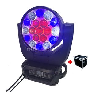 High Power Ring Control Led Moving Head Zoom Wash 19 x 15w Rgbw 4in1 Dmx Led Zoom Moving Head Light With Flight Case