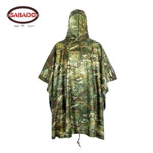 Jumpsuit jungle vêtements de corps Cape clothes corps camouflage portable imperméable 210 * 140cm manteau imperméable multi-fonctionnelle des adultes imper nDoY