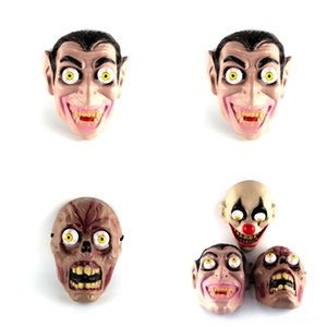 J63c6 Halloween Face Headgear Carrion Costume Grimace Terrorist Hallow Accessories Grimace Ghost Burning Funny Face Zombie Fire Mask Fe Dlcj