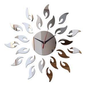 fai da te vendita diretta parete acrilico sole specchio orologi orologio nuovo di arrivo 3D di cristallo decorazioni per la casa Multi-piece vigilanza pacchetto di quarzo