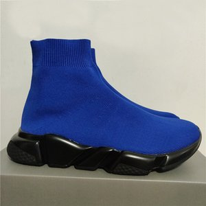 2020 Speed Runner Entraîneur Chaussures Noir Rouge Oreo Triple Noir Bleu marine plat Mode Chaussette Bottes Casual Sneaker avec la boîte sac à poussière
