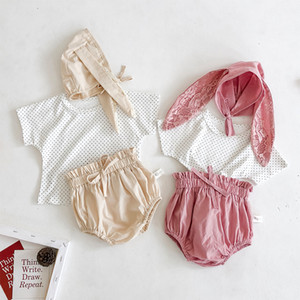 Cute Baby Girls Clothing Set Summer Toddler T Shirt Tops Shorts Rabbit Hat 3pcs Set Newborn Baby Girl Outfits Infant Clothing