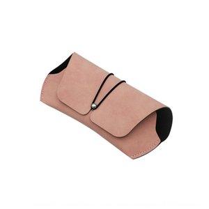 similpelle affollano gli occhiali copertina in pelle di stoccaggio cavo chiodo rotondo sole di sole della scatola occhiali da sole scatola di imballaggio