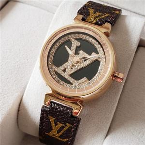 Высокое качество LV медный циферблат часов фортуна моды вращающихся ЛОГО мужчин смотреть 41мм женских часов 34мм любителей высокого класса часы лучший подарок