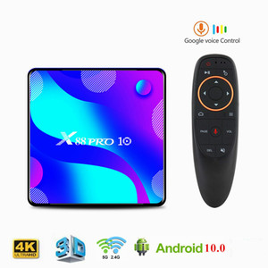 X88 Pro 10 Android 10 Smart TV Box 4GB 64GB RK3318 Quad Core HD 4K 2.4G / 5GHz Dual Band Wifi 3D Media Player Set Top Box Bluetooth 4.0
