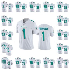 МайамидельфиныМужчины # 13 Dan Marino 1 Туа Tagovailoa 90 Шак Lawson 14 Райан Фицпатрик Пользовательские Женщины МолодежьNFL Football Джерси