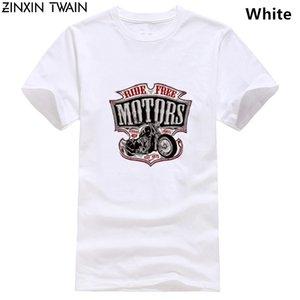 2019 New Moda Roupa O-Neck adolescente T-shirt T-shirt Motard Moto Motos Chopper Bobber Old School baratos Tees