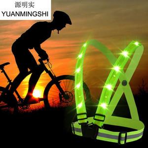 cgjxs Cgjxs Yuanmingshi High Visibility Warnweste Sitz für Erwachsene Kinder Radfahren Laufen Sport Motorrad Warnweste T1