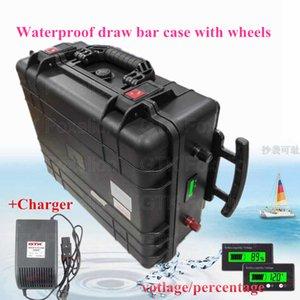 DRAWBAR Case 72V 50Ah литий-ионная аккумуляторная батарея водонепроницаемый для мобильного хранения энергии энергия RV EV 5kw двигатель велосипеда портативный + 10A зарядное устройство