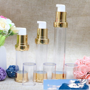 15ml 20ml 30ml Empty Plastic Airless Lotion Emulsion Dispenser Face Cream Pump Bottles For Container Makeup Cosmetic Shampoo Body Wash Bath