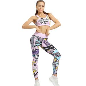 2 mujeres piezas conjunto Yoga Sportwear la parte superior Conjunto Deportes + de las polainas para el fitness Bicicletas de la Mujer 2020 traje de ciclismo ropa de gimnasia MINANSER