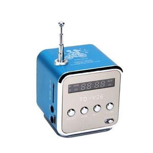 Portable TD-V26 numérique Haut-parleur Radio FM avec stéréo LCD haut-parleur support Mini carte TF
