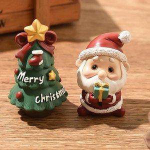 Christmas Santa Claus Mini Figurine Doll House Home Decor Miniature Fairy Garden Ornament Kids Toys Crafts