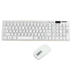 Mini Ultra İnce Kablosuz 2 .4ghz Klavye Ve Fare Seti İçin Masaüstü Laptop Pc Siyah Ve Beyaz Seçeneği