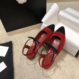 Las mujeres de piel de cordero calidad bombea los zapatos de tacón alto vestido laminado grosgrain Encanto Negro Oro sandalia Algodón Cuero partido de fondo plano con la caja