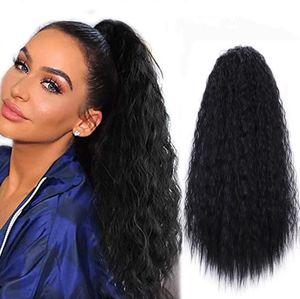 Пять цветов доступны длинные вьющиеся волосы невидимый брат BaCt False Ponytail Пушистая кукуруза Горячая шерсть скручиваемая хвост