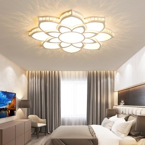 Crystal Modern Led Ceiling lights for Children Room Living Room Bedroom Deco Surface Mounted Ceiling Lamp fixtures White Finish