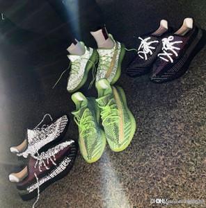 2019 Kanye West Release YEEZREEL V2 Glow В Dark 3M Reflective Yecheil Ешая Бег Спортивная обувь Черный Мужские Женские кроссовки 4-12