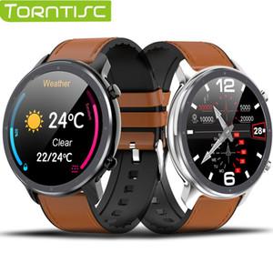 Torntisc Akıllı İzle Man Kadınlar Tam Yuvarlak Dokunmatik Ekran EKG Nabız Hava Ekran Smartwatch Android IOS VS L9 DT78