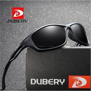 DUBERY design Specchio quadrato Polarized Sunglasses Men Luxury Vintage Estate Maschio Occhiali da sole per gli uomini occhiali da sole polarizzati driver Sungla FRIN #