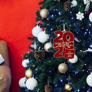 Enfeites de natal 2020 Toilet Paper Ano Novo Viver Partido Quarto Com árvore do colhedor de madeira de suspensão Casa Decor presente DIY