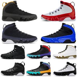 Nike Air Jordan Ретро 9 9s Stockx Тренажерный зал Red Men Баскетбол обувь Racer Blue Citrus UNC статуя мужские кроссовки спортивные кроссовки размер 7-13