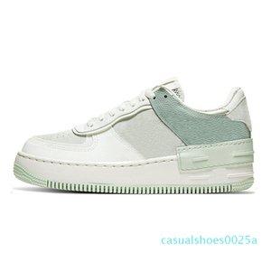 cMen Mulheres sapatos de plataforma Chaussures Casual Preto Aurora Triplo Branco Coral rosa pálido Marfim Sapphire Trainers Skate das sapatilhas dos homens 25c