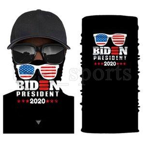 Trump masque facial 2020 Drapeau américain de protection Masque écharpe magique randonnée à vélo Bandana Bandeau Président Trump Biden Election Masques CYZ2723