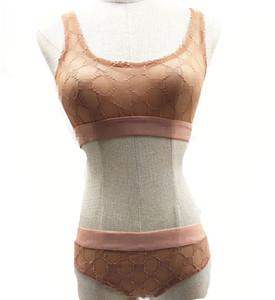 Breves del sujetador de las mujeres del cordón atractivo respirable fino sin fisuras Bras clásicos letra impresa Brassiere 2 colores