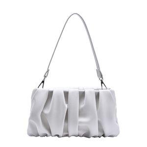 Luxury women purse flap bags Pleated leather cross body bags New Fashion lady shoulder bags purse handbag